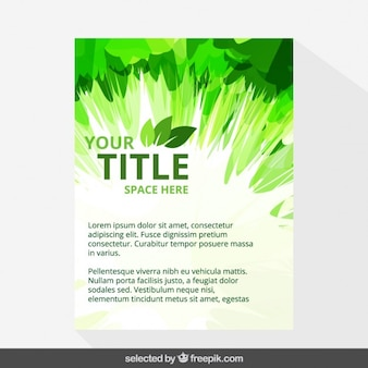 Abstract eco brochure