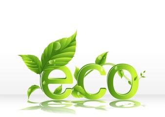 Abstract eco logo