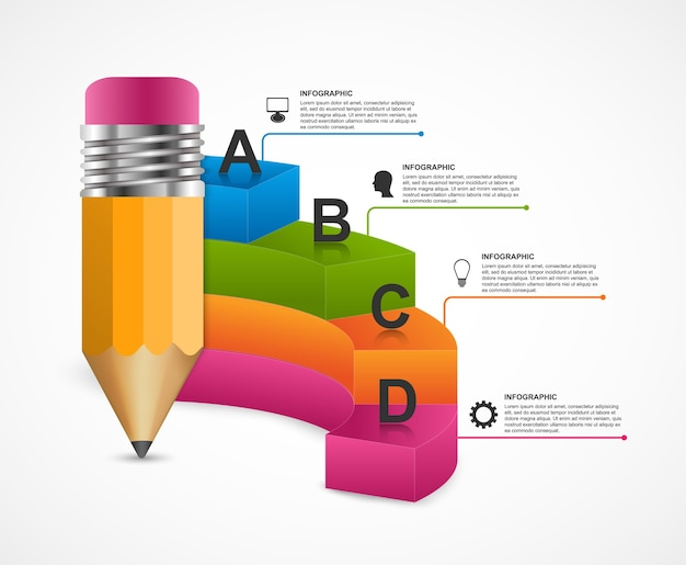 Abstract education infographics template