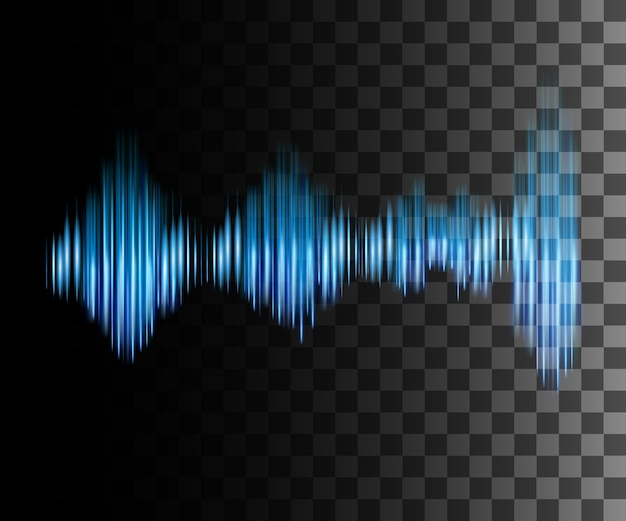 Abstract effect sound wave illustration