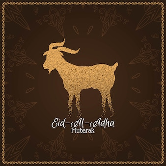 Abstract eid al adha mubarak background