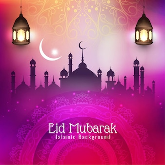 Abstract eid mubarak islamic festival stylish background