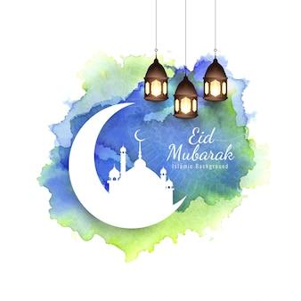 Abstract eid mubarak islamic religious