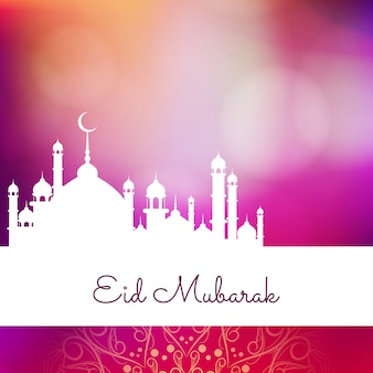 Abstract Eid Mubarak religious colorful background