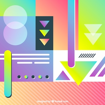 Abstract eighties colorful background