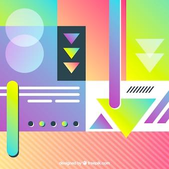 Astratto sfondo colorato anni '80