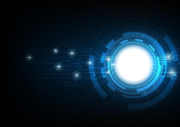 추상 전기 회로 원형 미래 혁신 기술