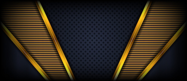 Abstract elegant background with gold frame