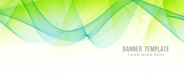 Abstract elegant banner modern template