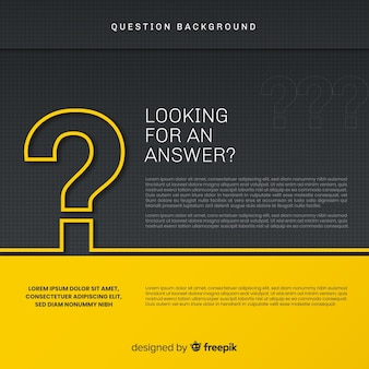 Abstract elegant black and golden question background