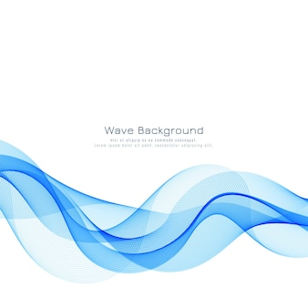 Abstract elegant blue wave background