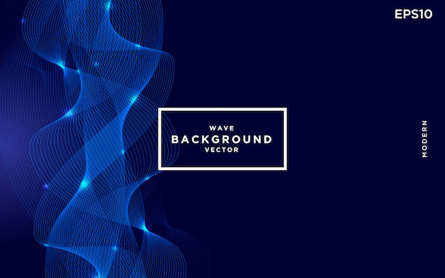 Abstract elegant blue wavy with dark background