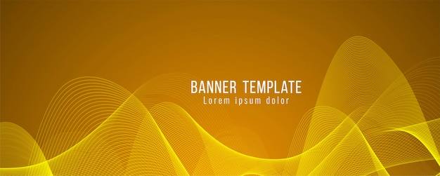 Abstract elegant bright banner modern template