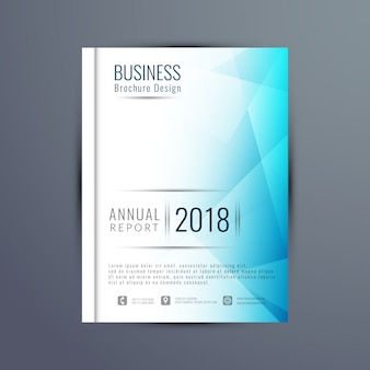 Abstract elegant business brochure