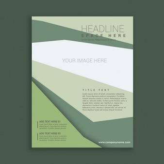抽象的なエレガントなビジネススタイルパンフレットチラシデザイン