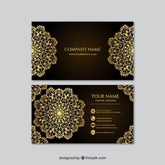 曼陀羅と抽象的なエレガントなカード