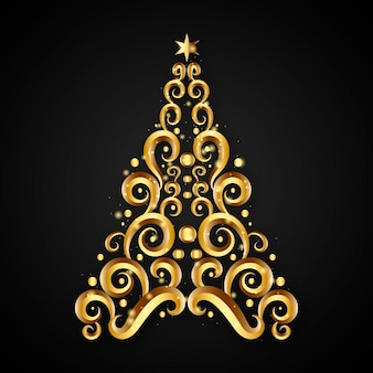 Абстрактная элегантная рождественская елка