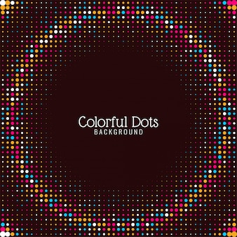 Abstract elegant colorful dots background