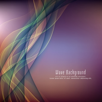 Abstract elegant colorful wave background