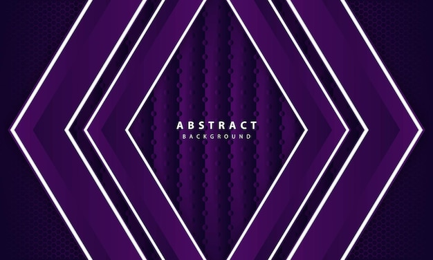 Abstract elegant dark purple on overlap layer background