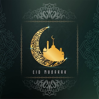 Abstract elegant eid mubarak decorative
