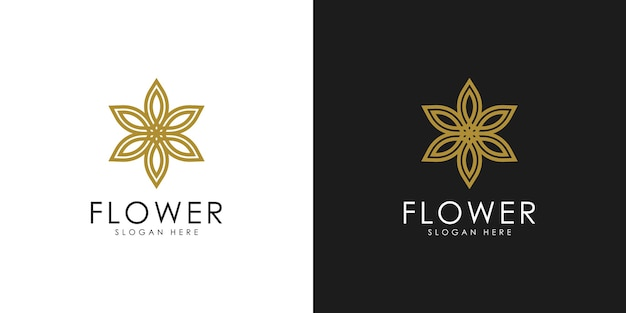 抽象的なエレガントな花のロゴ