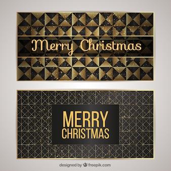 Abstract elegant golden christmas greeting