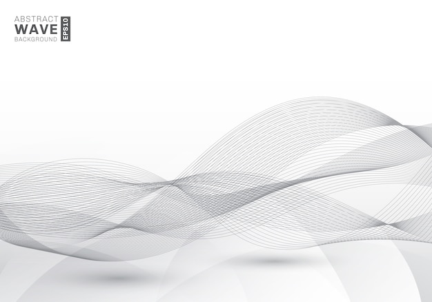 Abstract elegant gray lines waves background