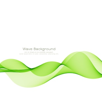 Abstract elegant green wave background