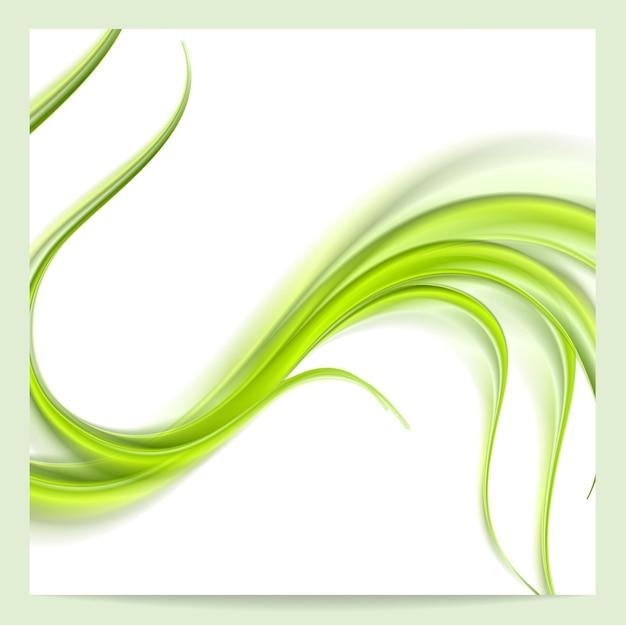 추상 우아한 녹색 물결 패턴 배경입니다. 벡터 디자인