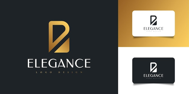 Abstract and elegant letter b logo design in golden gradient. graphic alphabet symbol for corporate business identity