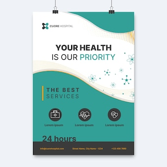 Abstract elegant medical poster