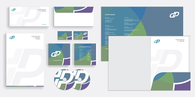 Abstract elegant modern corporate business identity stationary