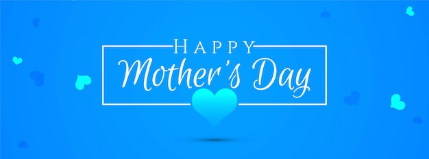 Abstract elegant mother's day blue banner design