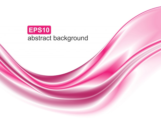 Abstract elegant pink wave motion.