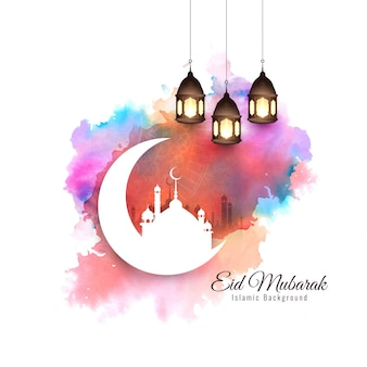 Abstract elegant stylish eid mubarak background