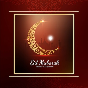 Abstract elegant stylish eid mubarak