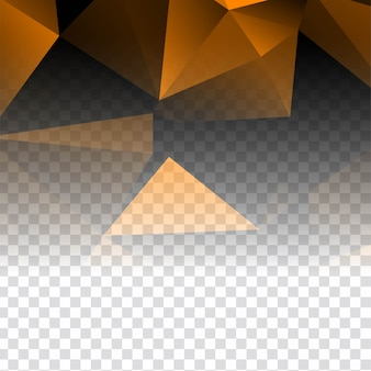 Abstract elegant transparent polygonal background