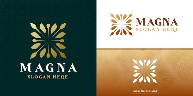 抽象的なエレガントな木の葉の花のロゴアイコンベクトルデザインユニバーサルクリエイティブプレミアムシンボル
