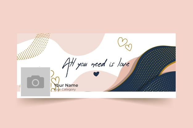 Abstract elegant valentine's day facebook cover