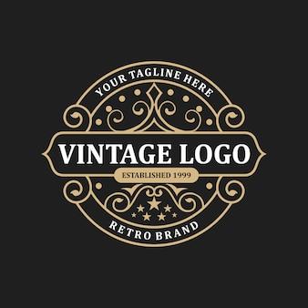 抽象的なエレガントなヴィンテージのロゴのテンプレート