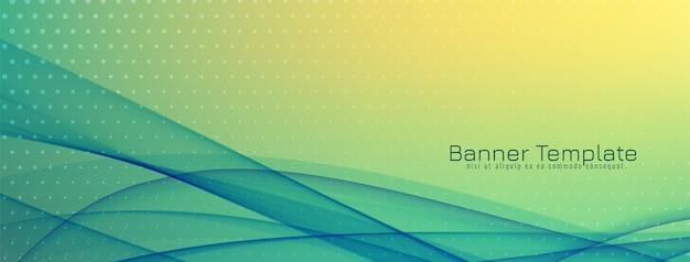 Abstract elegant wave modern banner design