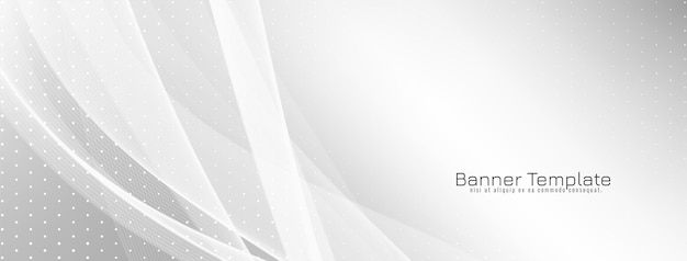 Abstract elegant wave style banner design vector