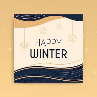 Carte invernali eleganti astratte