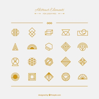 Abstract element collection for logotypes