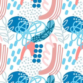 抽象的な要素パターン手描きスタイル