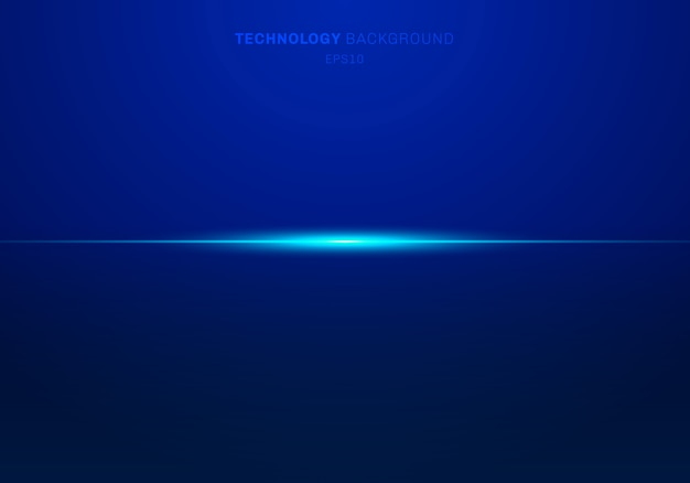 Abstract elements blue light laser horizontal background