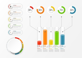 Abstract elements of infographic template with label. Business concept with 5 options.
