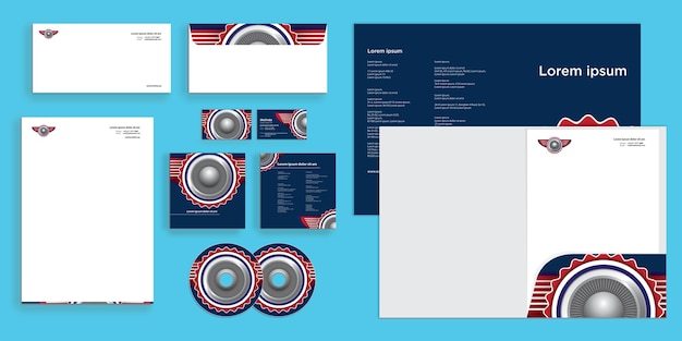 Abstract emblem wings fly modern corporate business identity stationary