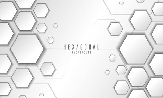 Abstract embossed hexagonal white background